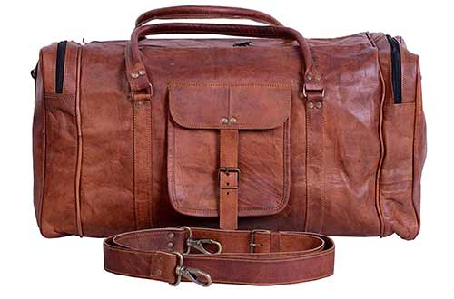 Travel Leather Duffe